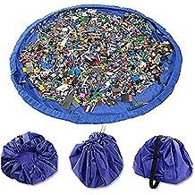 TUKA XXL Spielmatte Spielzeugaufbewahrung Aufr/äumsack Blau Dupla usw Schnelles Aufr/äumen TKD4007 Blue Aufbewahrung Legos 145cm Spieldecke Spielzeug Aufbewahrung Beutel zum Spielen