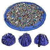 Tappetino per Giochi,Sacco di Raccolta per Giocattolo Lego Duplo 150CM Nylon Blu Rosa