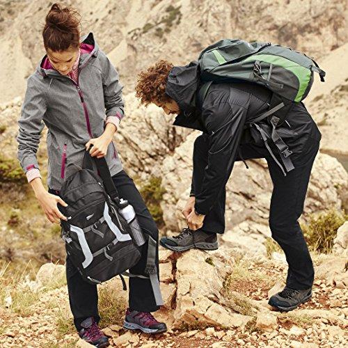 CRIVIT® OUTDOOR Damen Trekkingschuhe / Wanderschuhe anthrazit / pink