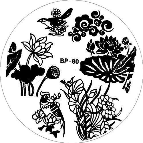 stampaggio-stencil-bp-80-lotus-fiore-di-loto-schnoerkel-pappagallo