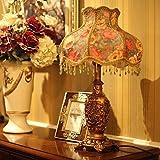 SSBY Jardín lámparas de noche de dormitorio ideas, lámparas de mesa decorativas, lámparas de mesita de noche dormitorio vintage de novia