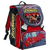 Erweiterbarer Schulrucksack Marvel Avengers Infinity War , Rot -28 Lt – 2 Pattine in 3d + Gadget Einschließt !