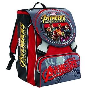 61uUqyUZfdL. SS300  - Mochila Escolar Extensible Marvel Avengers Infinity War , Rojo -28 Lt – 2 Salapas in 3d + Gadget Integrado !