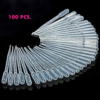DIY NEW 3ml Disposable Plastic Droppers Transfer Pipettes 100 PCS OF PACK