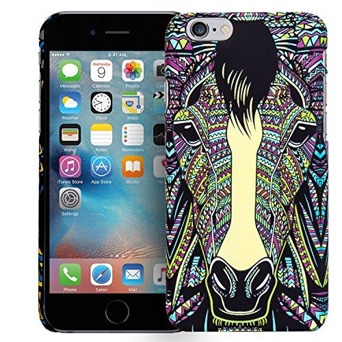 iPhone 7 Motiv Backcover, Conie Mobile PC Motiv Rückschale Hartschale Hülle Tier Muster, Leuchtefekt, Schutzhülle / Case für hinten Motiv 02