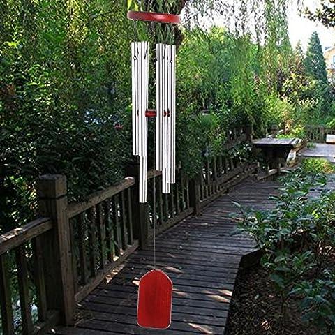 Dairyshop creux en acier inoxydable 6Wind Chimes, bois Rouge Rideau tentures cloches Home Deco