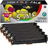 Yellow Yeti 5er Pack 128A CE320A CE321A CE322A CE323A Premium Toner kompatibel für HP Color LaserJet Pro CP1525n CP1525nw CM1415fn CM1415fnw [3 Jahre Garantie]