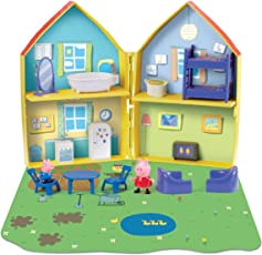 Planet Superheroes PVC 16-Piece Playhouse with Peppa and George Pig Figures (Multicolour, 0PP-06711)