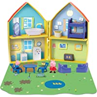 Planet Superheroes PVC 16-Piece Playhouse with Peppa and George Pig Figures (Multicolour)