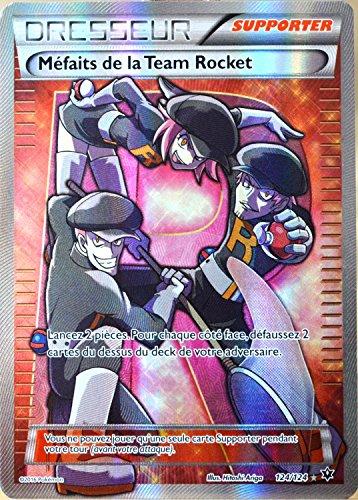 carte Pokémon 124/124 Méfaits de la Team Rocket - ULTRA RARE FULL ART XY - Impact des Destins