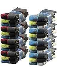 Lavazio® 6 | 12 | 18 | 24 Paar Herren Arbeitssocken Sportsocken Thermo Socken dick & herrlich warm in 4 verschiedenen Farben