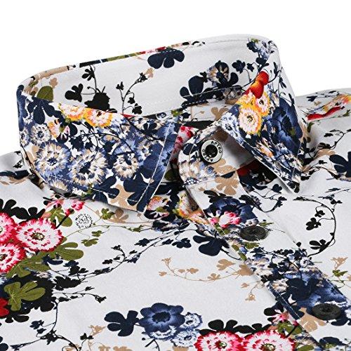 APTRO Herren Freizeit Mercerisierte Baumwolle Mehrfarbig Langarm Shirt Größe XS-XXXL… 16024Grün
