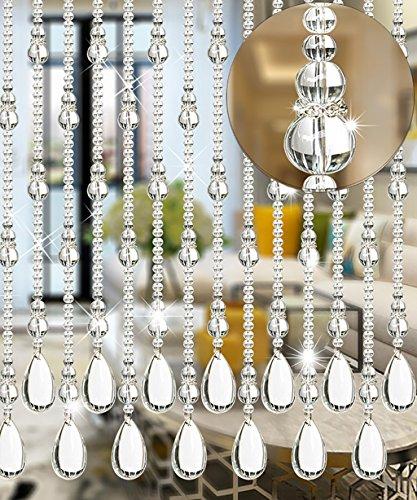 Cristal Cortina de puerta con cuentas Ventana de la puerta de la habit