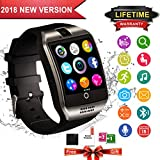 Smartwatch, Wasserdicht Bluetooth Smart Watch Touchscreen Handy Uhr mit Sim TF Kartenslot Whatsapp Sports Fitness Tracker Intelligente Armbanduhr Fuer Android Samsung Huawei IOS iPhone Damen Herren