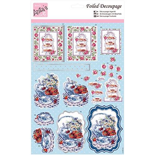 Docrafts Anita 's A4Vereitelt Mittelmeer sheet-roses bei Tea Time -