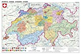 REINDERS Landkarte Schweiz - politisch - Poster 91,5 x 61