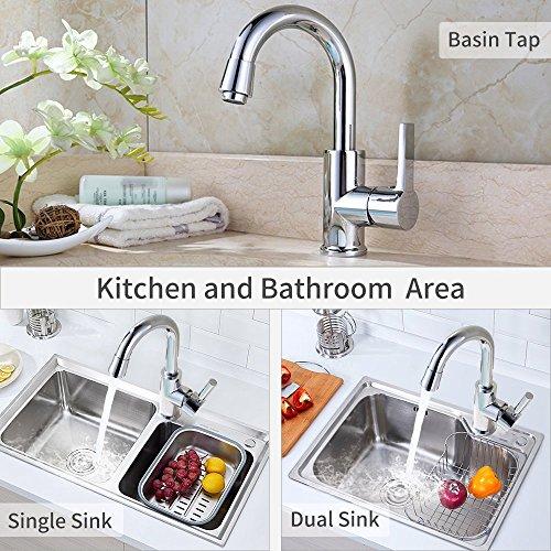 Homelody 360° Drehbar Mischbatterie Chrom Wasserhahn Küche Bad Armatur Küchenarmatur Waschbeckenarmatur - 6