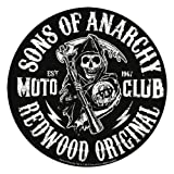 """SONS OF ANARCHY, Moto Club Reaper, Officially Licensed, 3.75"""" x 3.75"""", Die-Cut STICKER ADESIVO DECAL"""