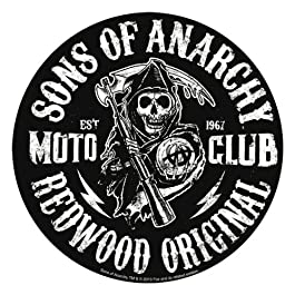 SONS OF ANARCHY, Moto Club Reaper, Officially Licensed, 3.75″ x 3.75″, Die-Cut STICKER ADESIVO DECAL