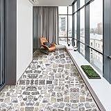 LISABOBO Pvc selbstklebend Bodenbeläge Aufkleber, Dick Anti-wearable Wasserdicht Wohnzimmer Küche Schlafzimmer Badezimmer Stock Wallpaper - EIN