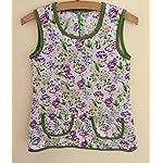 Adicreat Mädchen Kleid Rundhals Blumen Beiläufig Knielänge Sommerkleid 4-12 Jahre 6