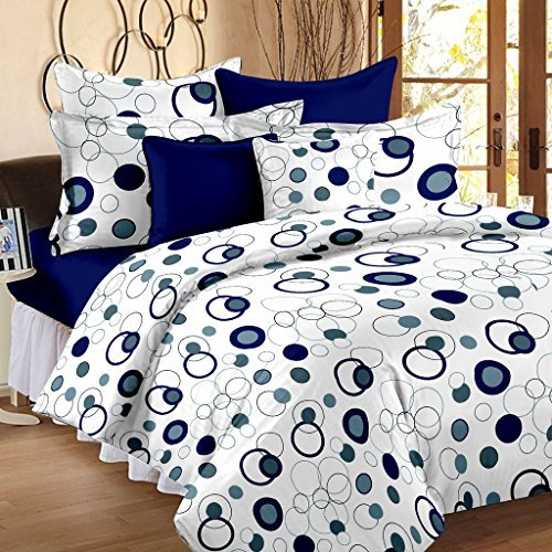 Story@Home Magic 152 TC Cotton Double Bedsheet with 2 Pillow Covers -...