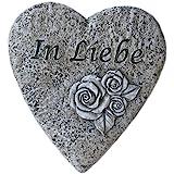"""Bambelaa!,Decorazione tombale, decorazione per lapide a forma di cuore con scritta """"in amore"""", in finta pietra, per…"""