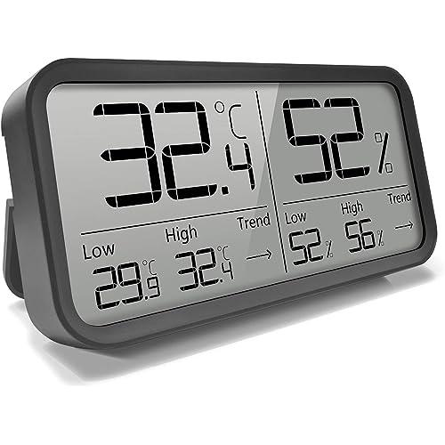 AngLink Termometro Igrometro Digitale Termoigrometro da Interno con Alta precisione, Adatto per Casa Monitor di Temperatura e umidità