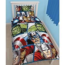 Nuevo Oficial Marvel Vengadores funda de edredón juego de sábanas de Hulk, Thor Capitán América UK, Avengers Shield, suelto