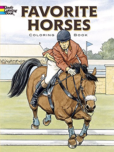 Favorite Horses Coloring Book (Dover Coloring Books)