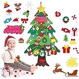 Zueyen Árbol de Navidad de Fieltro, árbol de Navidad de Fieltro para niños pequeños con 34 Piezas de Adornos Desmontables, ár
