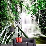 Wallswot 3D Sfondi Foto di sfondo personalizzato carta da parati del soggiorno TV birdsong Jian tavola di legno montagna Brooks 3D scenario murale