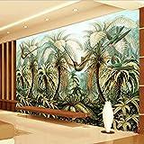 Wandbild Tapete Große Handgemalte Wandmalerei Tropischer Regenwald Vögel Wohnzimmer Sofa Hintergrund Tapete Dekoration (W)250X(H)175Cm