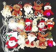 10 unidades muñeco diferentes hecho en mano ,medidas de10cm a 20cm,tiene ángel muñeco de nieve papa Noel etc,idea para colgar en árbol de Navidad o regalo, importante (.este no es jueguete ,no aptadato prara niños menores de 3 años)