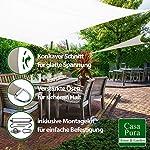 casa pura Sonnensegel mit Befestigungsset | für Garten, Balkon und Terrasse | wasserabweisend und atmungsaktiv | große…