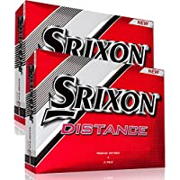 """NEW 2017"" SRIXON DISTANCE WHITE GOLF BALLS DOUBLE DOZEN 24 BALL DISCOUNT PACK"