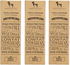 Heads Up for Tails Healthy Alternative to Raw Hide Chhurpi Dog Food Treats, Small (Brown) - Pack of 3