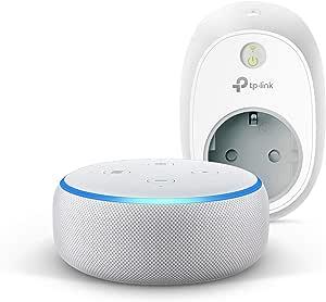 Echo Dot (3ª generazione) - Tessuto grigio chiaro +TP-Link HS100 Presa intelligente Wi-Fi, compatibile con Alexa