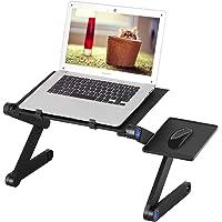 Mbuynow Table de Lit Pliable, Support pour Ordinateur Portable Ventilé en Aluminium Pliant, Plateau Support Inclinable…