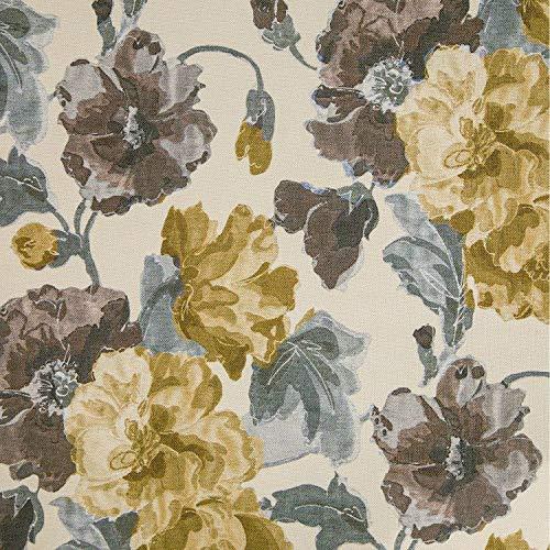 NOVELY® HANAU Fleur Polsterstoff Blumen Rosen floral Möbelstoff Dekostoff (Fleur 03) -
