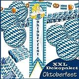Oktoberfest - XXL Raumdeko Lampions Girlande Bayern Dekoration Luftschlangen