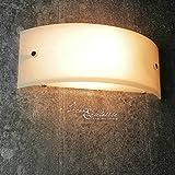 Wandleuchte modern halbrund/weiß / Breite 29 cm / E27 max 60W 230V / Lampe Wand Halbschale/Wandlampe ohne Muster/Schlafzimmer Flur Küche Esszimmer Wohnzimmer Beleuchtung