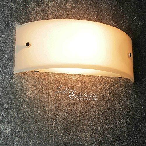 Wandleuchte modern halbrund weiß Breite 29 cm E14 max 60W 230V Lampe Wand Halbschale Wandlampe ohne Muster Schlafzimmer Flur Küche Esszimmer Wohnzimmer Beleuchtung -