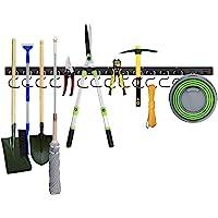 Housolution Système de Rangement Réglable 48 Pouces, Supports Muraux pour Outils 3 Packs 12 Crochets Organiseur de…