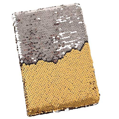Gaddrt Kassenbücher Notizbuch Tagebuch Zweifarbige Pailletten-Serie für Notebook-Notizbücher aus Papier Bürobedarf Schreibwaren (D)