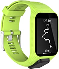 Leegoal TomTom orologio da polso, Cinturini In Silicone Sostitutivo Per Cinturini TomTom Cinghie Per Runner 2 / Runner 3 / Spark 3 / Adventurer/Golfer 2 Sport GPS Running Smartwatch