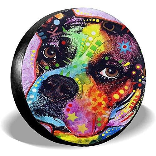 N/A Coperture per Pneumatici Boxer Colorate per Cani Copertura per Ruota di scorta Ecologica Portatile 15 Pollici Universale Impermeab
