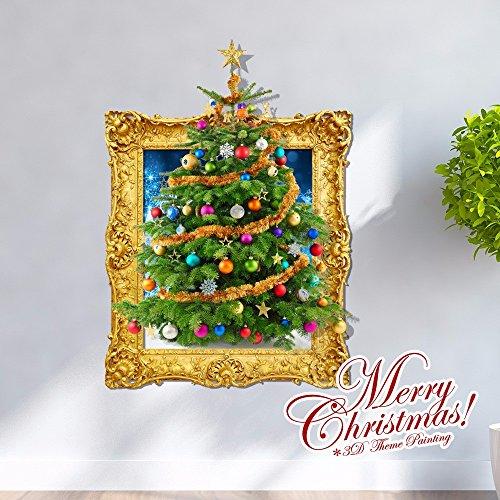 Weihnachts-Dekoration für Halloween 3D-Sticker/dreidimensionale Malerei/Wohnzimmer/cartoon Zimmer/Schlafzimmer/Kinder/Animation/dekorative Malerei/Weihnachtsbaum (58 * 80 cm)
