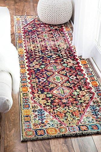 nuLOOM traditionellen Vintage-Vibrant Meadow Runner Bereich Teppiche, 2'15,2cm X 8', Multicolor -