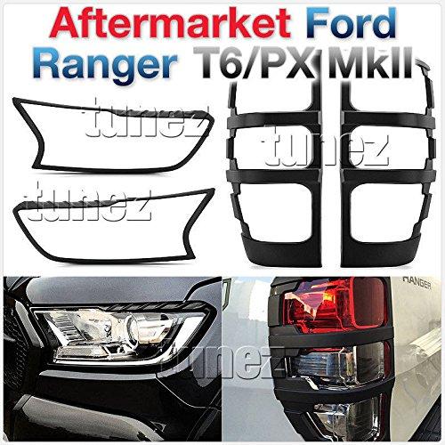 Preisvergleich Produktbild Tunez FRM07MK2 Ranger PX Wildtrak T6 MK2 Abdeckung Schwarz Vorne Hinten Schwanz Lampe matt
